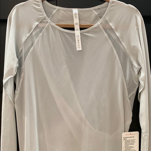 lululemon athletica Tops - New with Tags! Lululemon Sheer Open Back L/S Top